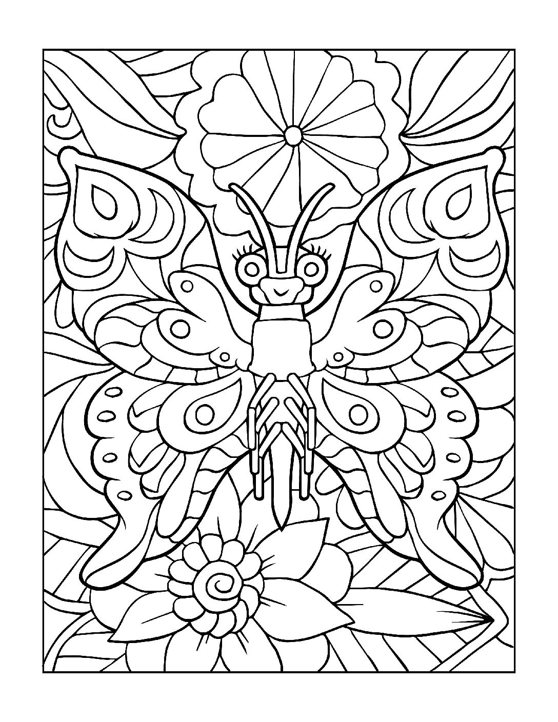 Coloring-Pages_Butterflies-10-01-1-pdf Free Printable Butterfly Colouring Pages
