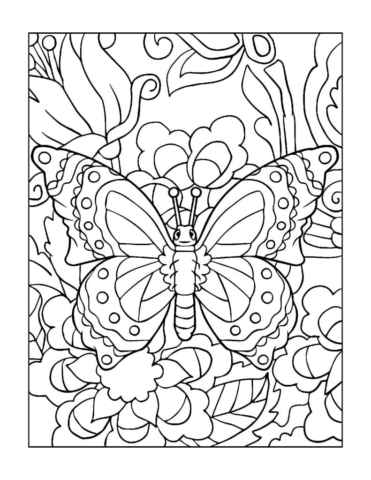 Coloring-Pages_Butterflies-12-01-pdf-791x1024-640x480 Free Printable Butterfly Colouring Pages
