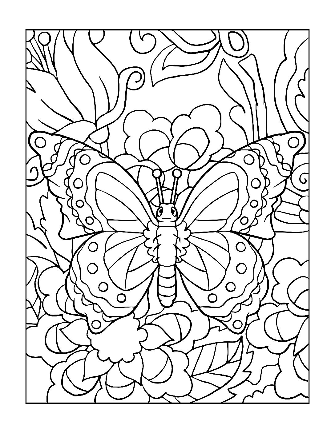 Coloring-Pages_Butterflies-12-01-pdf Free Printable Butterfly Colouring Pages