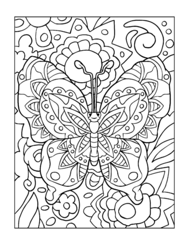 Coloring-Pages_Butterflies-13-01-pdf-791x1024-640x480 Free Printable Butterfly Colouring Pages