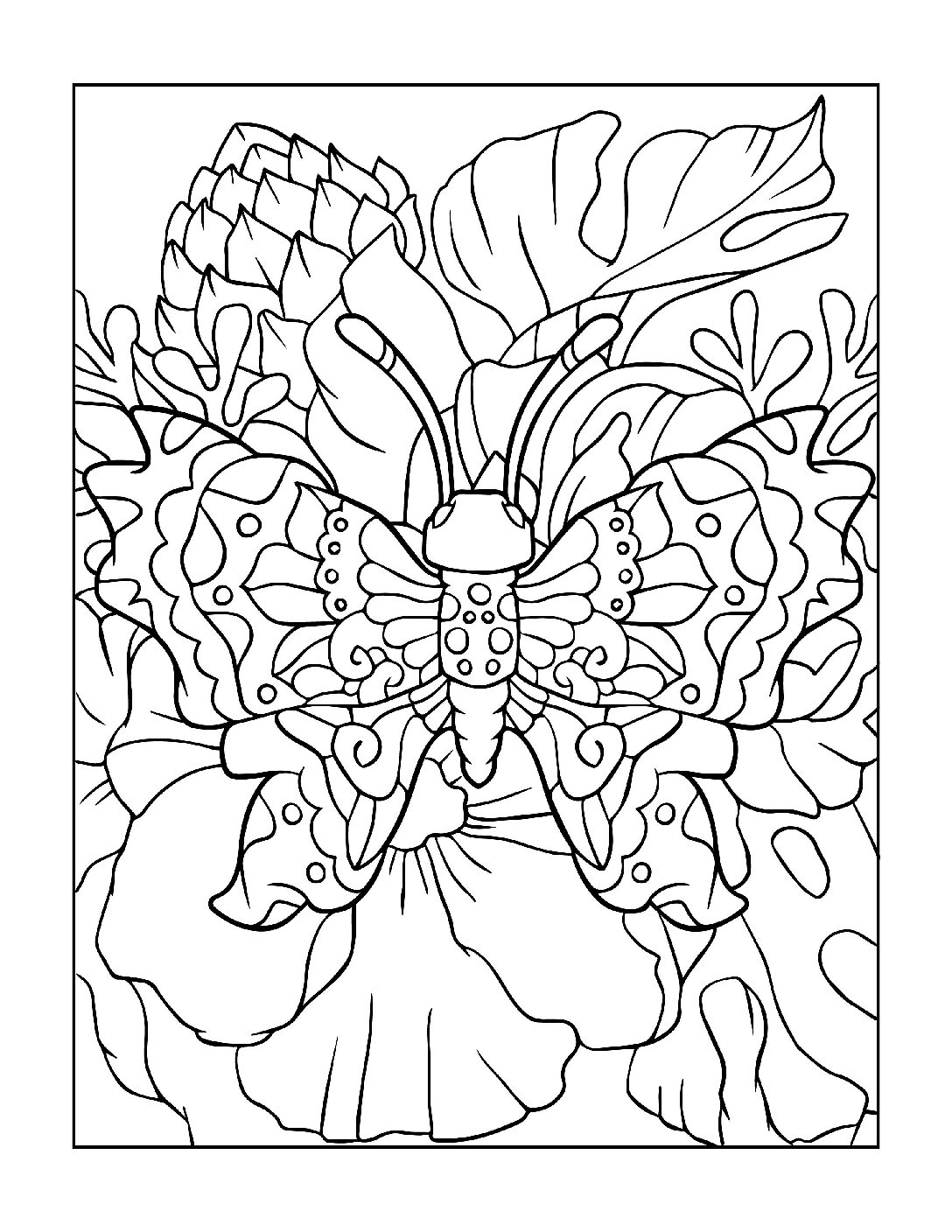 Coloring-Pages_Butterflies-14-01-pdf Free Printable Butterfly Colouring Pages