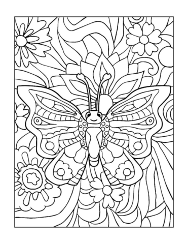 Coloring-Pages_Butterflies-15-01-pdf-791x1024-640x480 Free Printable Butterfly Colouring Pages