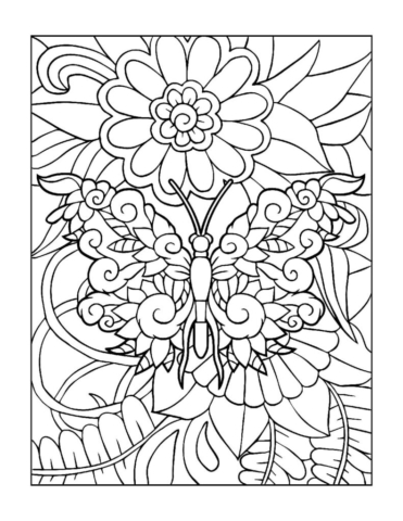 Coloring-Pages_Butterflies-2-01-1-pdf-791x1024-640x480 Free Printable Butterfly Colouring Pages