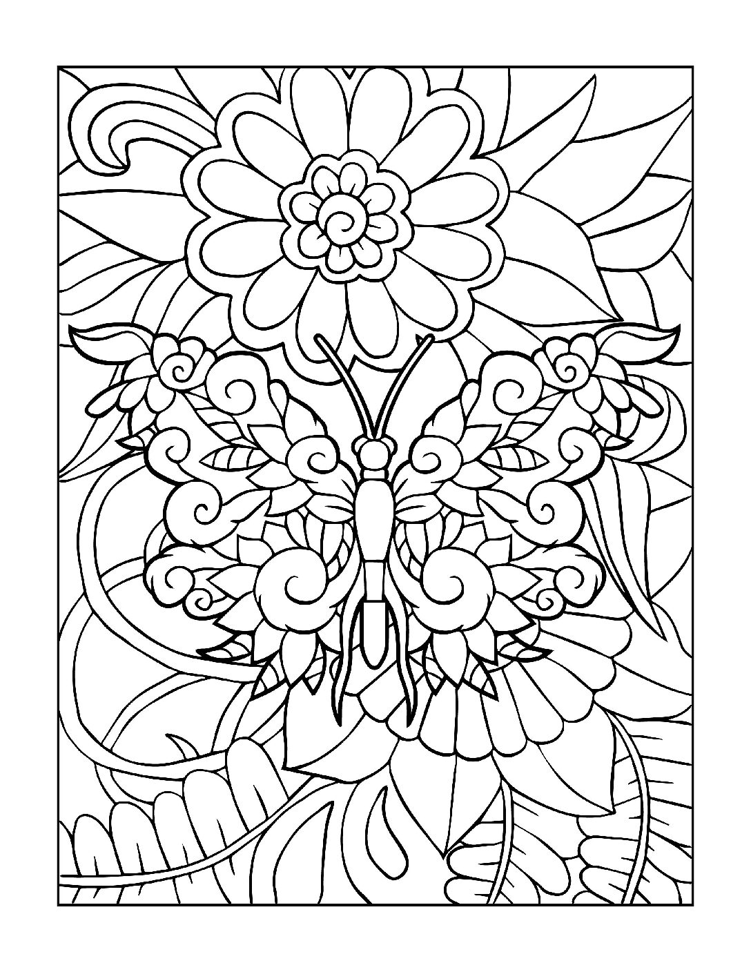 Coloring-Pages_Butterflies-2-01-1-pdf Free Printable Butterfly Colouring Pages