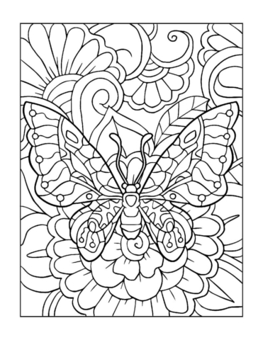 Coloring-Pages_Butterflies-4-01-1-pdf-791x1024-640x480 Free Printable Butterfly Colouring Pages