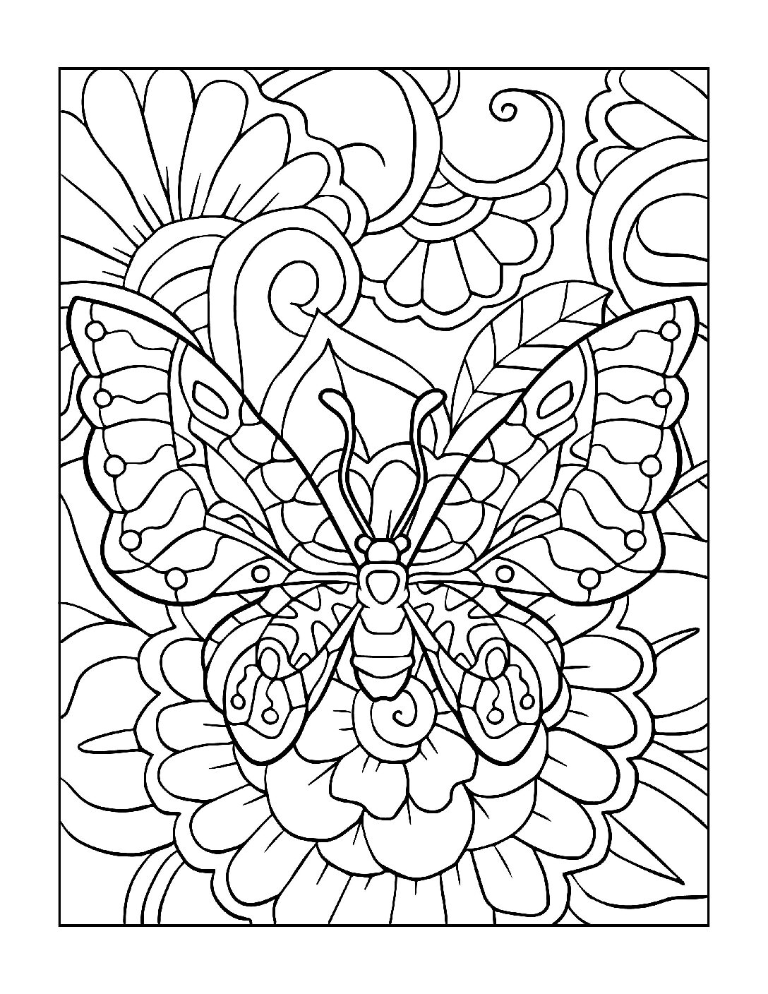 Coloring-Pages_Butterflies-4-01-1-pdf Free Printable Butterfly Colouring Pages