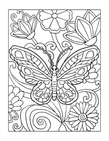 Coloring-Pages_Butterflies-5-01-1-pdf-791x1024-640x480 Free Printable Butterfly Colouring Pages