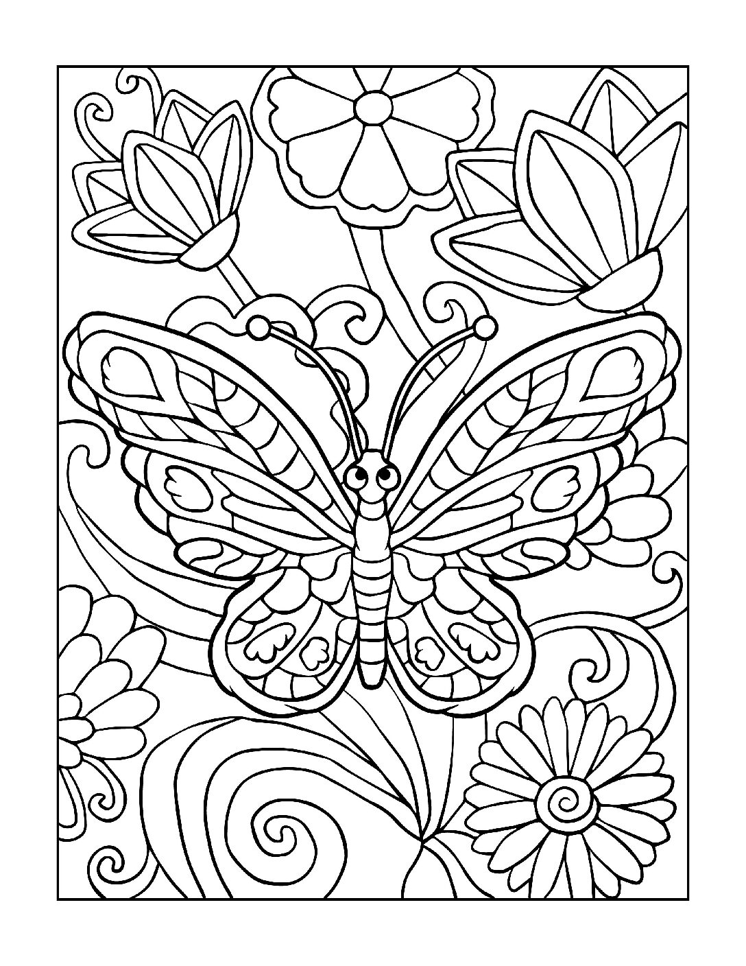 Coloring-Pages_Butterflies-5-01-1-pdf Free Printable Butterfly Colouring Pages