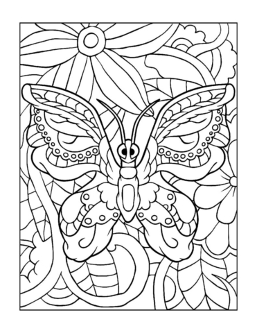 Coloring-Pages_Butterflies-6-01-1-pdf-791x1024-640x480 Free Printable Butterfly Colouring Pages