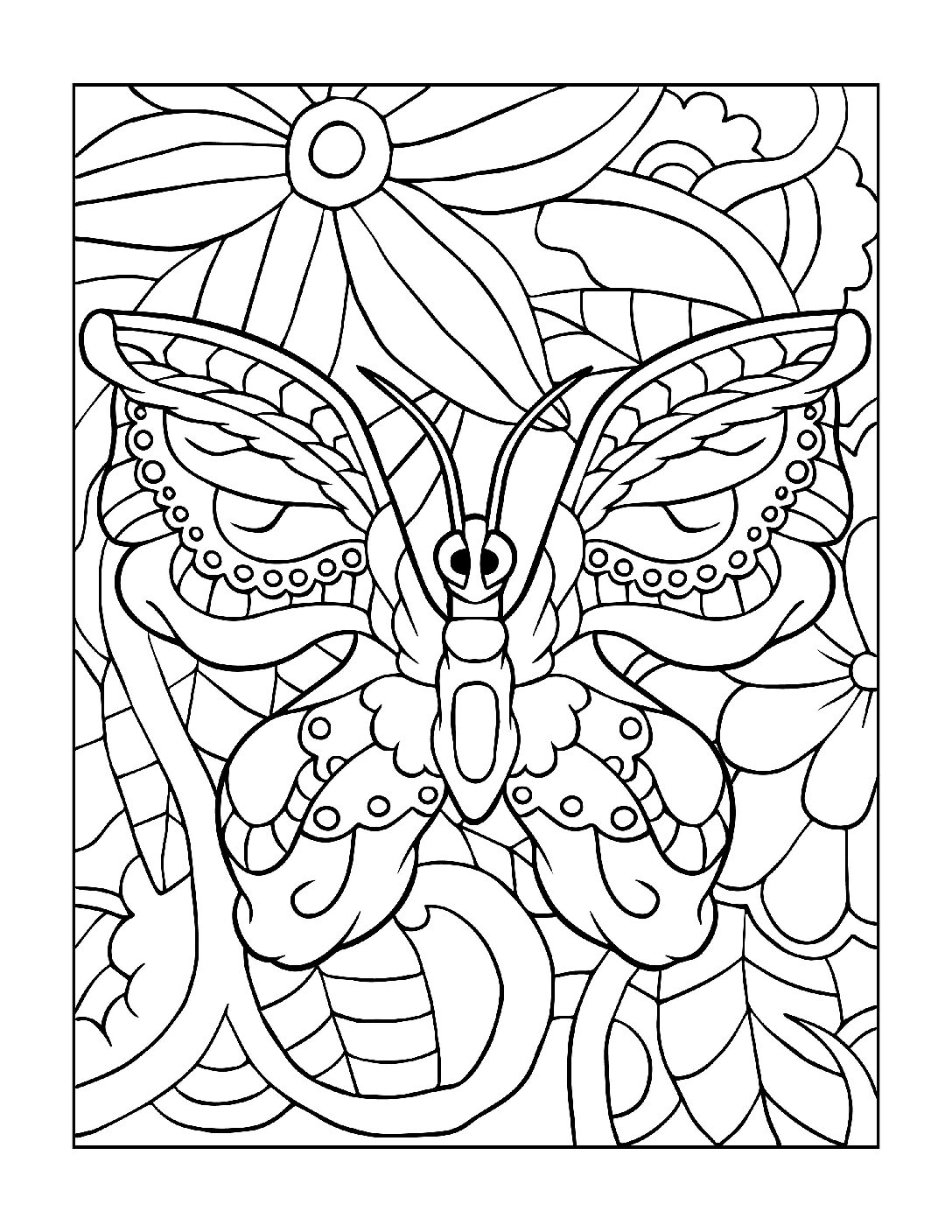 Coloring-Pages_Butterflies-6-01-1-pdf Free Printable Butterfly Colouring Pages