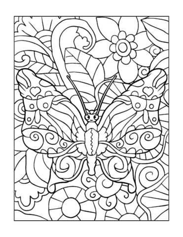 Coloring-Pages_Butterflies-7-01-1-pdf-791x1024-640x480 Free Printable Butterfly Colouring Pages