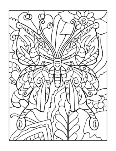 Coloring-Pages_Butterflies-8-01-1-pdf-791x1024-640x480 Free Printable Butterfly Colouring Pages