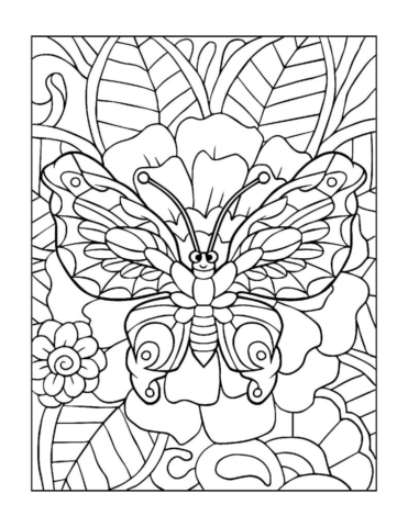 Coloring-Pages_Butterflies-9-01-1-pdf-791x1024-640x480 Free Printable Butterfly Colouring Pages