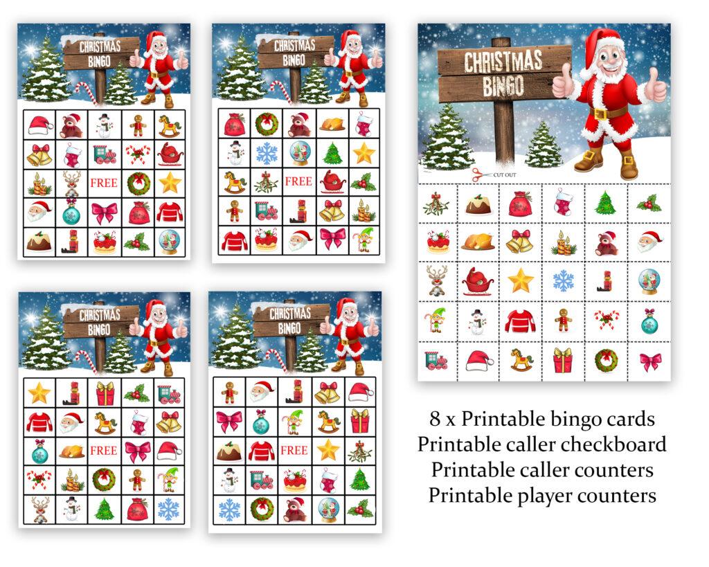 Christmas Bingo Printable Games