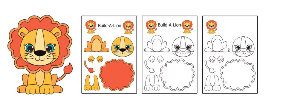 Lion-1024x366 Download 20 Free Printable Paper Cut Out Characters