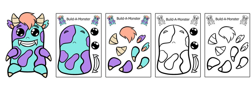Monster-1024x366 Download 20 Free Printable Paper Cut Out Characters
