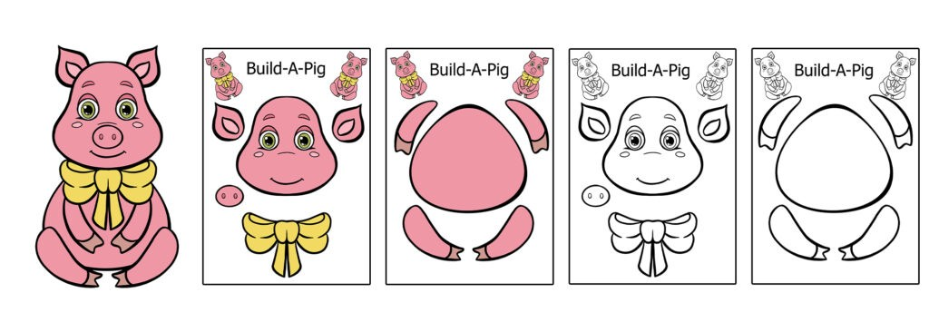 Pig-1024x366 Download 20 Free Printable Paper Cut Out Characters