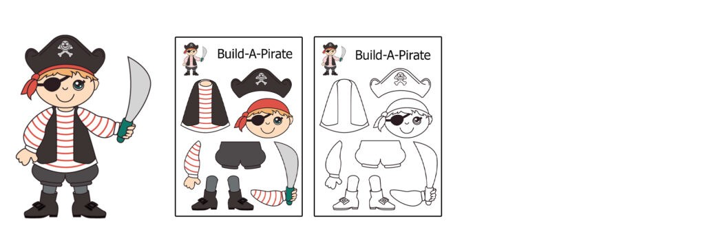 Pirate-1024x366 Download 20 Free Printable Paper Cut Out Characters