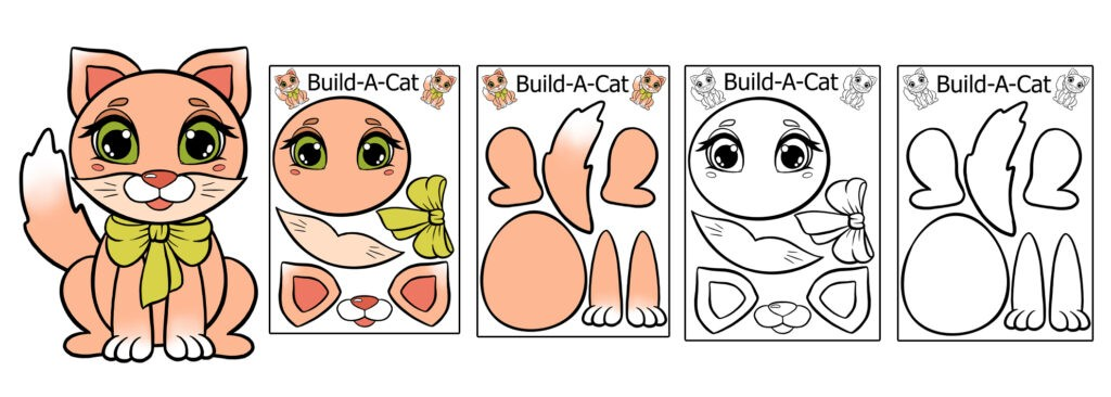 build-a-cat-1024x366 Download 20 Free Printable Paper Cut Out Characters