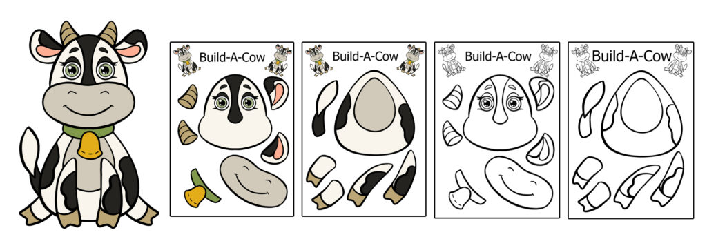 build-a-cow-1024x366 Download 20 Free Printable Paper Cut Out Characters