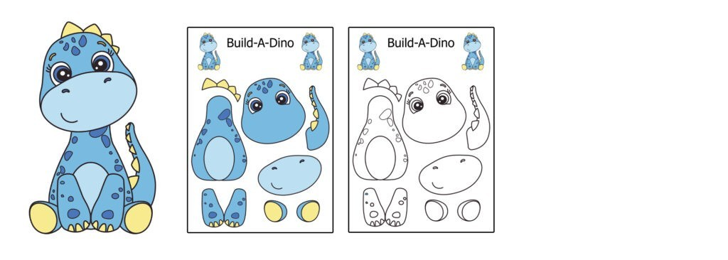 build-a-dino-1024x366 Download 20 Free Printable Paper Cut Out Characters