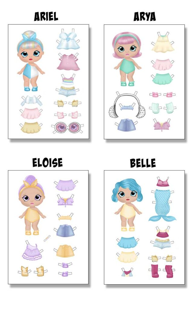 Printable Paper Dolls Templates