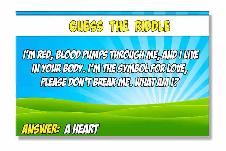 guess_the_riddle_game Guess The Riddle Family Printable Game