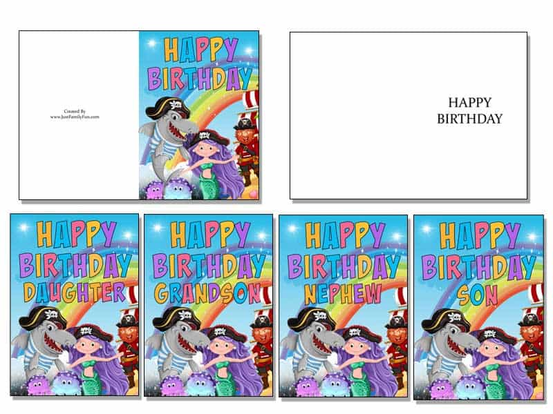 2-2 Make Your Own Birthday Cards With These Free Printable Cards. 6 Different Designs.