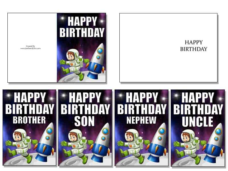 3-2 Make Your Own Birthday Cards With These Free Printable Cards. 6 Different Designs.