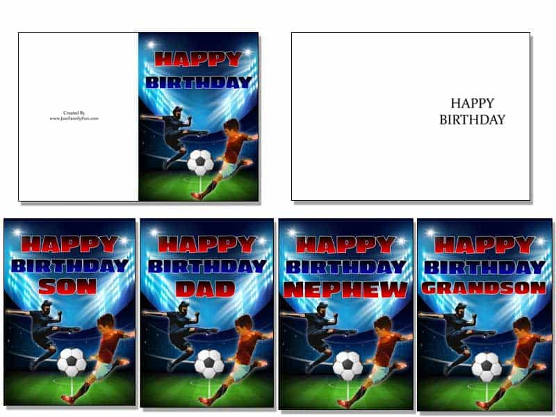 4-1 Make Your Own Birthday Cards With These Free Printable Cards. 6 Different Designs.