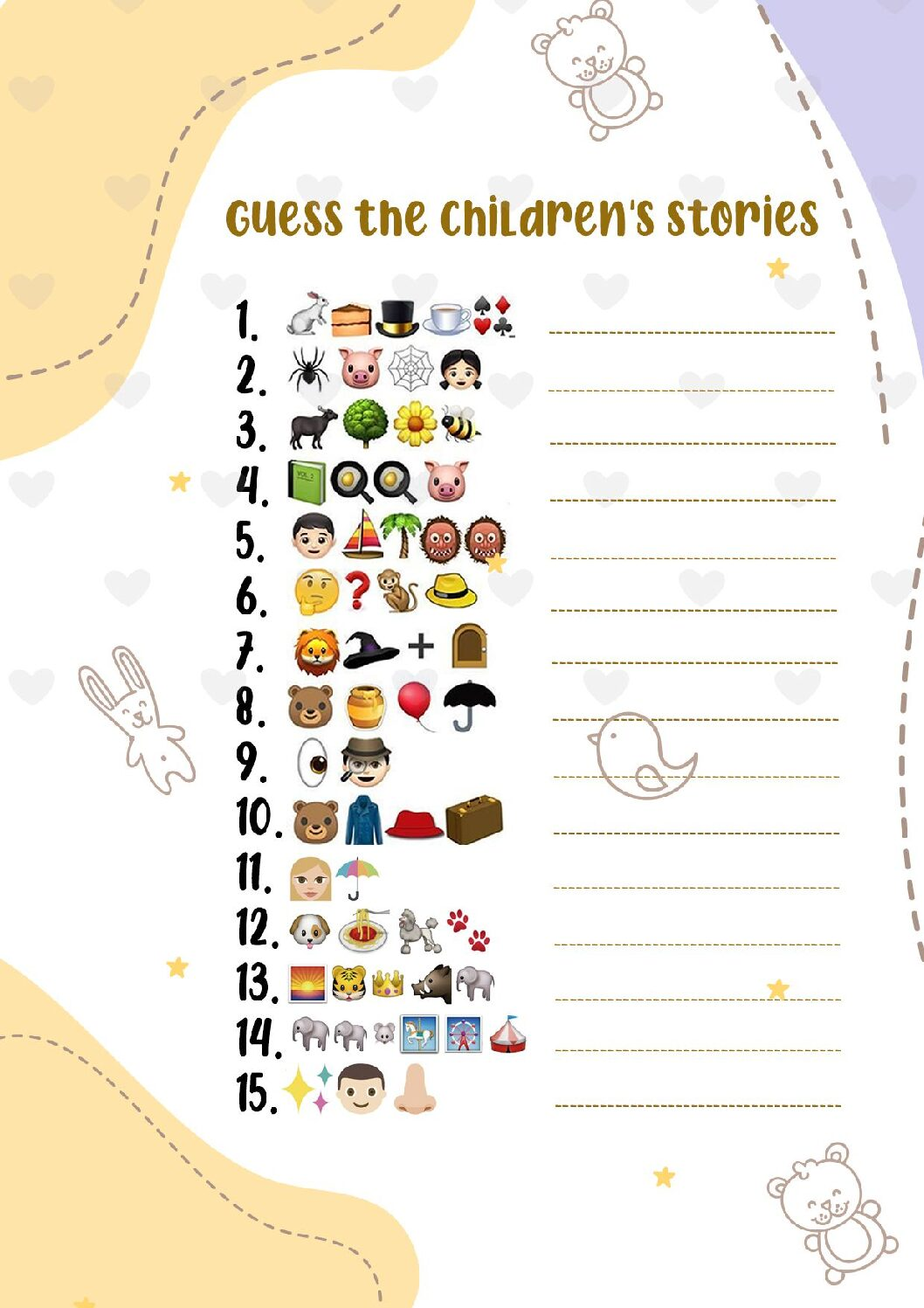 GUESS-THE-CHILDRENS-STORIES-pdf Guess the Emoji Print Out Sheets