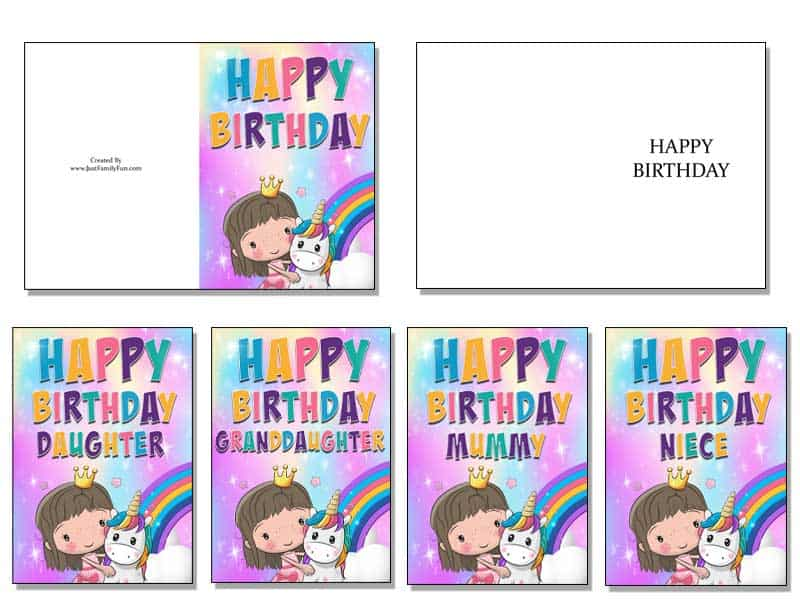 freeprintablecards Make Your Own Birthday Cards With These Free Printable Cards. 6 Different Designs.