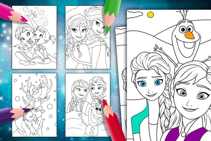 frozen_colouring_pages