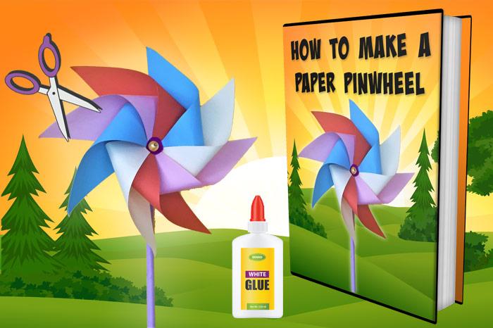 how to make a paper pinwheel