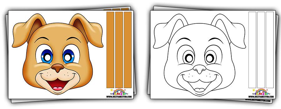 Printable Dog Face Mask Templates