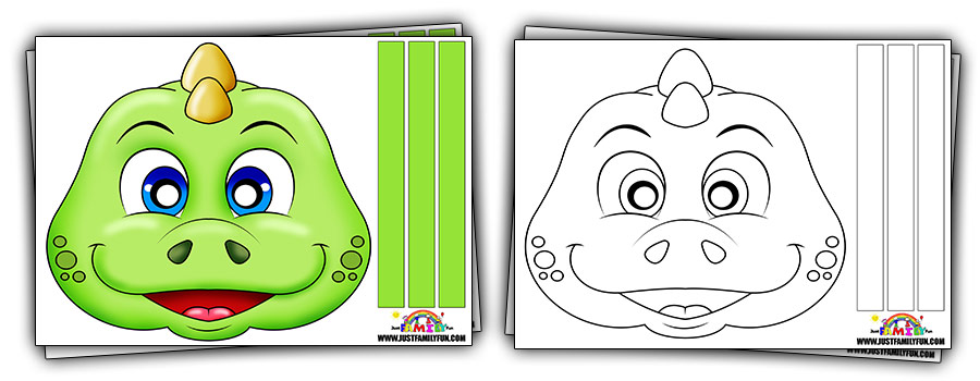 Printable Dinosaur Mask Templates