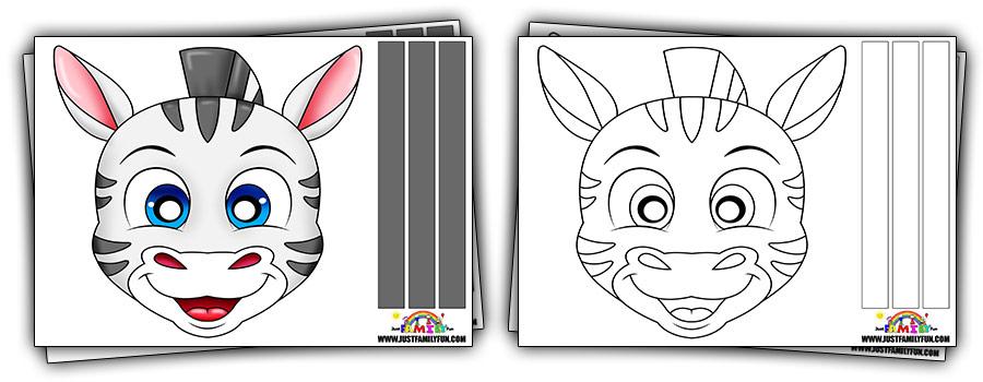 Printable Zebra Face Mask Templates