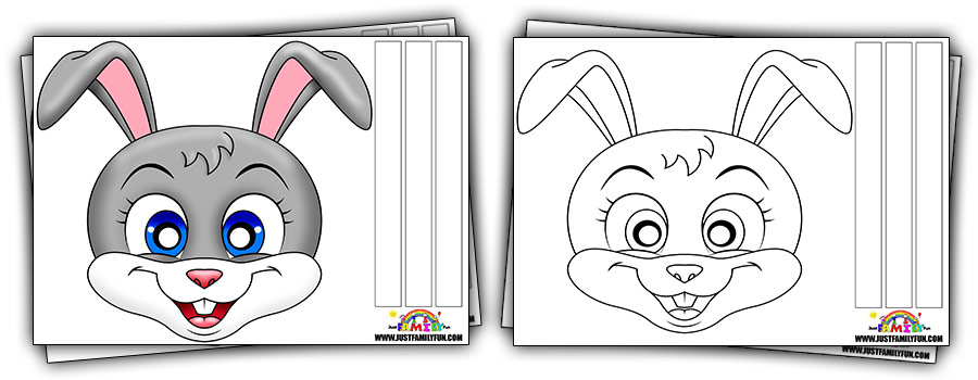 Free Printable Rabbit Face Mask Templates