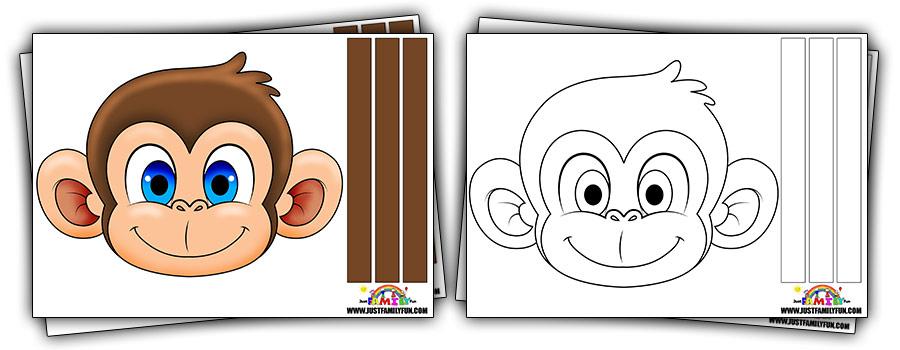 Printable Monkey Mask Templates