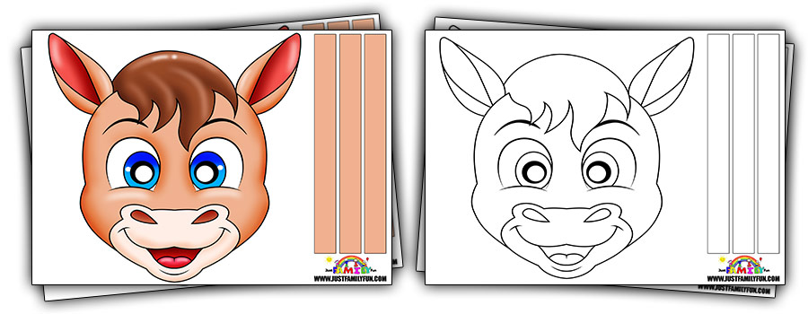 Free Printable Horse Face Mask Templates