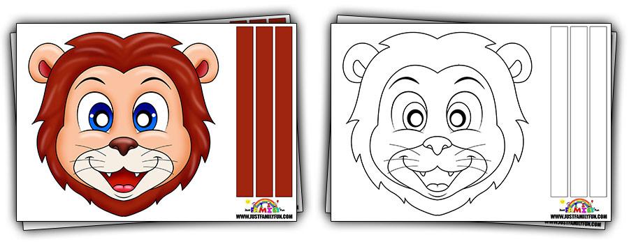 Lion Animal Head Masks