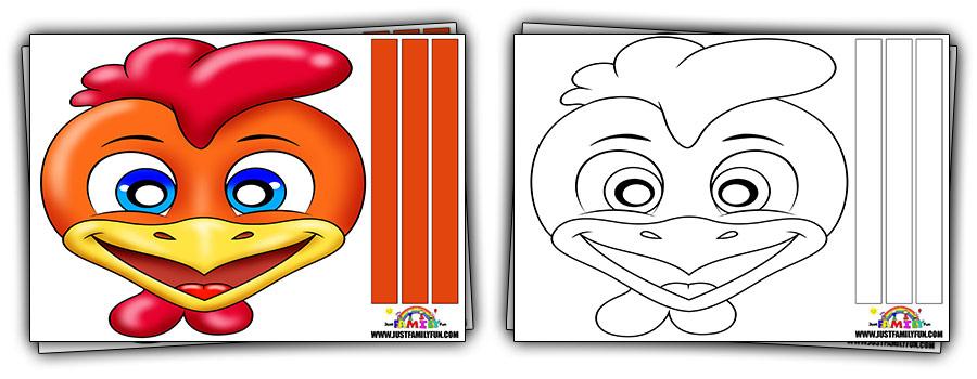 chicken Animal face Masks