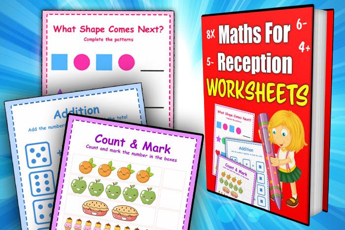 maths worksheets for reception