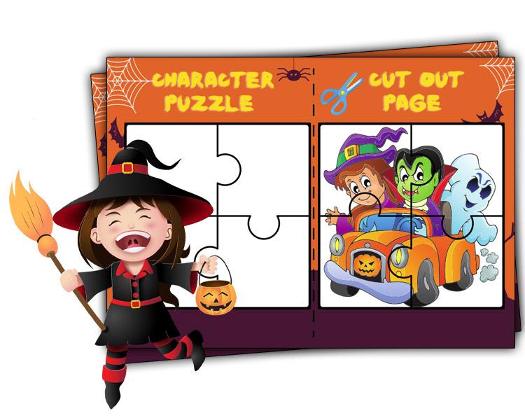 Printable Halloween Activities puzzle