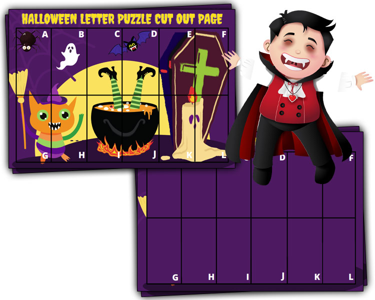 math the image puzzle halloween