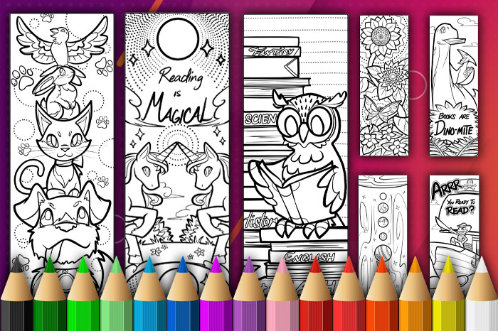 Bookmarks To Colour