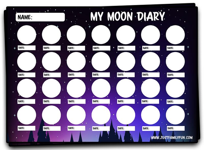 free printable kids moon tracker