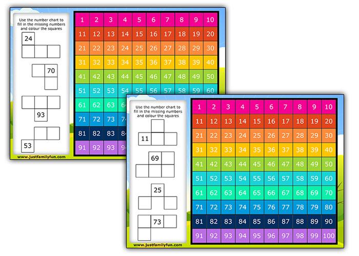 Hundreds Chart Puzzle
